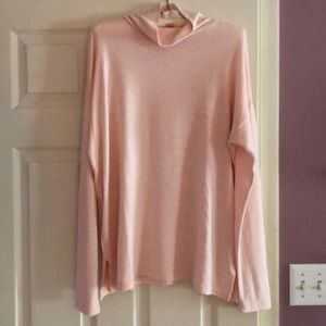 Jcrew pink turtleneck sweater